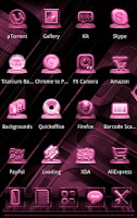 Screenshot of NEXT LAUNCHER PINKSTYLE THEME