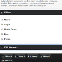 Screenshot of Tes Psikologi Kepribadian