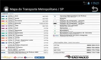 Screenshot of Metro Map - Sao Paulo - Brazil