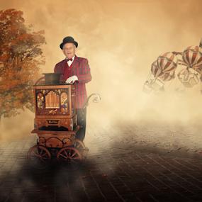 Old musician by Matej Skubic - Digital Art People ( old musician old man music box )