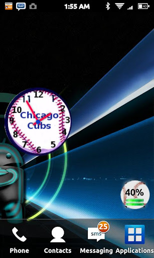 Chicago Cubs Clock Widget