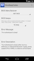 Screenshot of BIOS Beep computer error codes