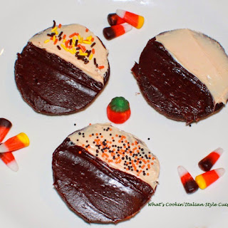 Halloween Moons Cake Mix Cookies