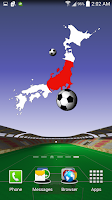 Screenshot of Japan World Cup Wallpaper LWP