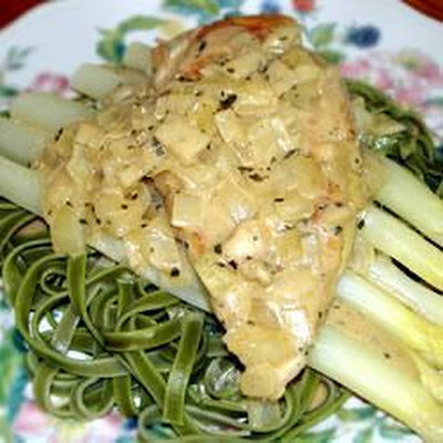 Tarragon Chicken with Asparagus