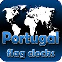 Portugal flag clocks