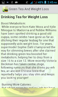 Green Tea & Weight Loss - screenshot