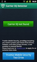 Screenshot of TrustGo Carrier IQ Detector