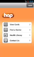 Screenshot of HAP OnTheGo