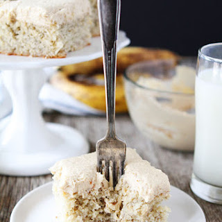 Easy Banana Cake with Peanut Butter Frosting