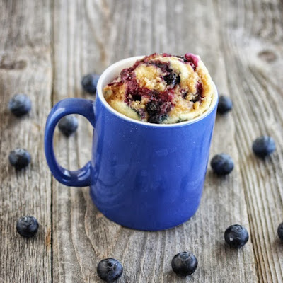 Blueberry Muffin with Streusel Topping Mug Cake