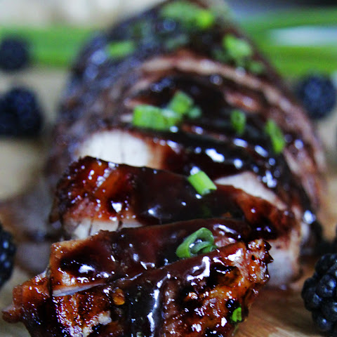 Blackberry Hoisin Ginger Pork Tenderloin