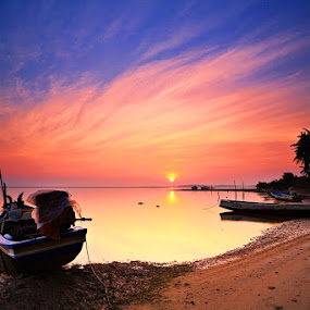 Sunrise @ a fishing village by Abd Rahman - Landscapes Sunsets & Sunrises