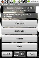 Screenshot of Joel's Football Trivia