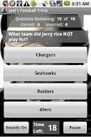 Screenshot of Joel's Football Trivia