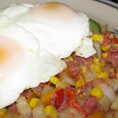 'Day Before Payday' Kielbasa and Corn Hash