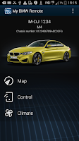 Screenshot of My BMW Remote