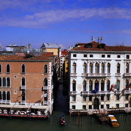 The Grand Canal, Venice by Helen Roberts - City,  Street & Park  Historic Districts (  )