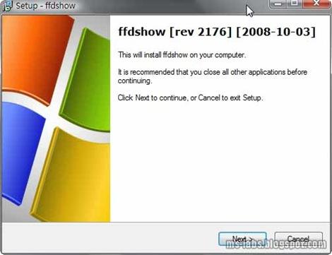 FFDShow安裝起始畫面