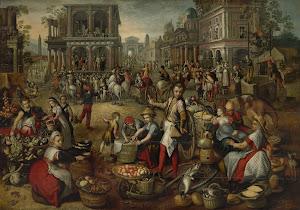 RIJKS: copy after Joachim Bueckelaer: painting 1590