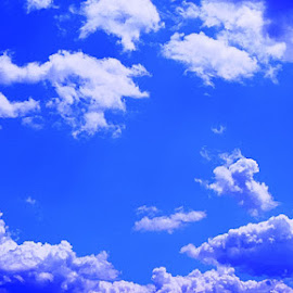 clouds by Pârlojan Monica - Landscapes Cloud Formations ( clouds, sky, blue, white, light )