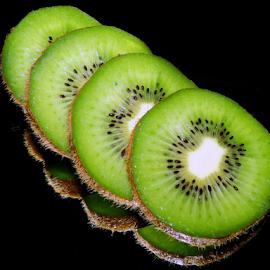 kiwi on the mirror by LADOCKi Elvira - Food & Drink Fruits & Vegetables ( kiwi )