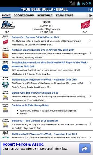 Buffalo Football Basketball