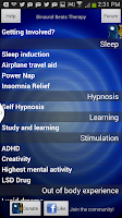 Screenshot of Binaural Beats Therapy - beta