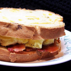 Scrambled Egg and Bacon Sandwich