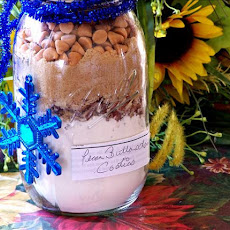 Pecan Buttersctotch Chip Cookies in a Jar Mix
