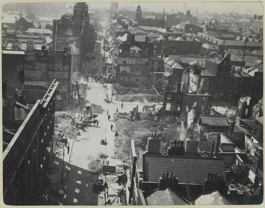 Henry Street from the summit of Nelson's Pillar