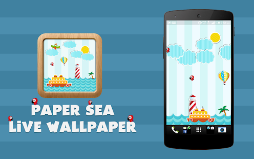 Paper Sea Live Wallpaper New Wave Studio APK Download Apps On Play Store