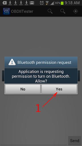 OBD2 /OBDII Bluetooth Tester - screenshot