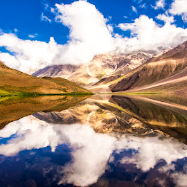 Chandratal by Sushil Chauhan - Landscapes Mountains & Hills
