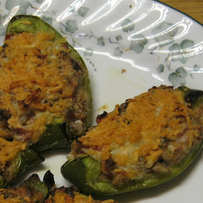 Green Peppers with Tomato Olive Stuffing