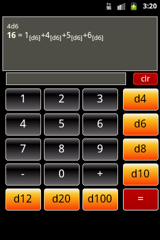 RPG Dice Calculator