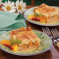 Sour Cream Peach Kuchen