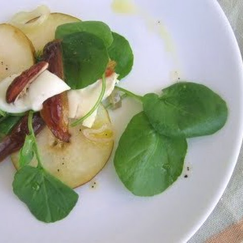 Watercress, Pear, and Brie Salad