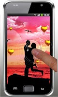 Screenshot of Love Sunset HD live wallpaper