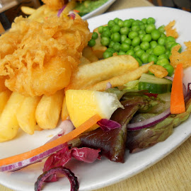 Fish & Chips at Blue Anchor Bay by Helen Roberts - Food & Drink Plated Food (  )