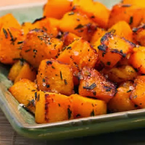 Roasted Butternut Squash with Lime and Rosemary