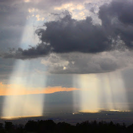 God Rays by Kirby Hornbeck - Landscapes Weather ( clouds, weather, sunshine, light, rays,  )
