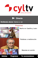 Screenshot of Castilla y León Televisión