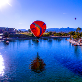 Landing by Tina Hailey - News & Events Entertainment ( tina's capture momentslake havasu az balloon festival )