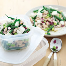 Lemony Three Bean & Feta Salad