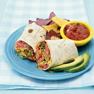 Chili-Rubbed Flank Steak Wraps