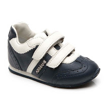 Armani Toddler Cut Out Leather Trainer TRAINER