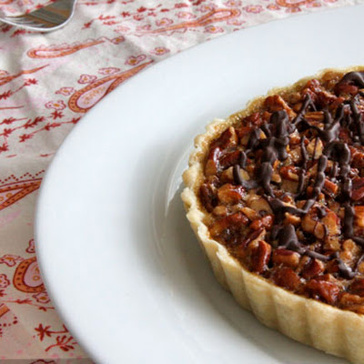 Pecan Pie Tart with Chocolate