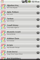 Screenshot of Turkish Pop Songs