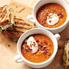 Smoky Lentil Soup with Grown-Up Grilled Cheese Sandwiches